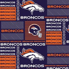 Denver Broncos NFL  Cotton Fabric: Get crafty and make tablecovers, runners, banners, other table accents,