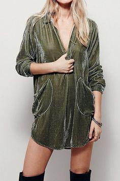 PrixLess Today s Pick Velour Cardigans Velvet Shirt Dress 4ce79cffd