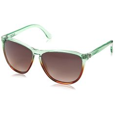 Electric California Encelia Women's Cateye Sunglasses Mint Brown Fade Gradient