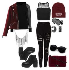 """""""Hipster punk"""" by ayeeeitsfatso ❤ liked on Polyvore featuring Boohoo, Young & Reckless, The Ragged Priest, Topshop, West Coast Jewelry and Bling Jewelry"""