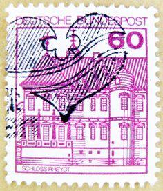 Stamp - Germany 60 pf. Schloss Rheydt