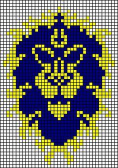 Alliance WoW xstitch pattern by NurseTab.deviantart.com on @deviantART