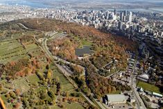Canada's trend of having incredible green parks smack in the center of her cities continues with Montreal. Mount Royal Park spans part of the city and Mont Royal Montreal, Quebec Montreal, Montreal Ville, Quebec City, O Canada, Canada Travel, Ottawa, Voyage Canada, Canada Pictures