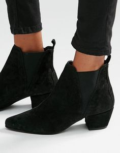 Warehouse | Warehouse Suede Low Heeled Chelsea Boot at ASOS