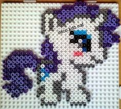 DECO.KDO.NAT: modèles petits poneys My Little Pony Rarity, My Little Pony Plush, Pearler Bead Patterns, Perler Patterns, Little Poney, Hama Beads Design, Perler Beads, Fuse Beads, Ponys