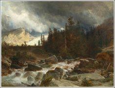 Johann Gottfried Steffan (1815-1905), La Vallée de Rosenlaui - 1871