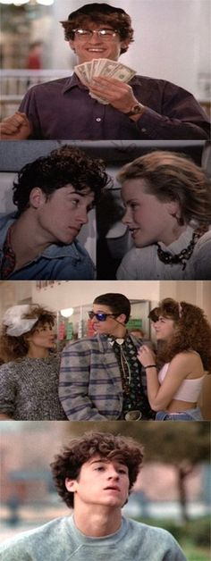 """""""Can´t Buy Me Love"""" Patrick Dempsey & Amanda Peterson Can't Buy Me Love, Movie Reels, Film Reels, Best Classic Movies, Great Movies, Rainy Day Movies, Pretty In Pink, Amanda Peterson, Cinema"""