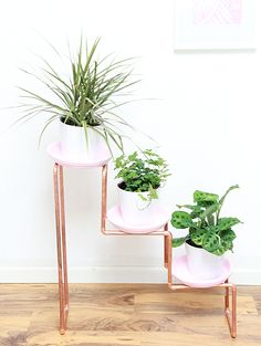 A Bubbly Life: DIY 3 Tiered Copper Planter