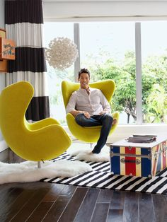 Tour the modern, colorful home of David Bromstad | Interior Design Styles and Color Schemes for Home Decorating | HGTV
