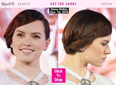 At the very first 'Star Wars: The Force Awakens' premiere, in Toyko, Japan on Dec. 10, breakout star Daisy Ridley stunned with a gorgeous updo. Get her exact look below.