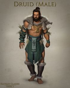 Druid (Male) - Stock Art — Art of Forrest Imel Dungeons And Dragons Art, Dungeons And Dragons Characters, Dungeons And Dragons Homebrew, Dnd Characters, Fantasy Characters, Fantasy Character Design, Character Inspiration, Character Art, Character Reference