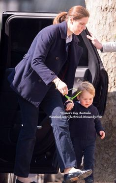 Prince Georgie with his nanny