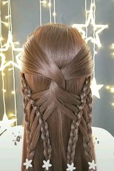 Beautiful Hair Style Tips😍 Easy Hairstyles For Long Hair, Braids For Long Hair, Braided Hairstyles, Cool Hairstyles, Front Hair Styles, Medium Hair Styles, Athletic Hairstyles, Best Hair Straightener, Long Hair Video