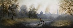Some Memories You Never Forget Original by Danny Abrahams  #art #artist #oils #canvas #landscape #sky #cityscape #football #match #boy #couple #dog #fishing #kite #flying #balloon #gallery #Yorkshire #Wolds #Pocklington #littleacorns