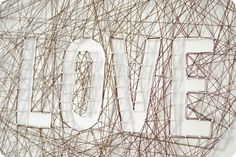 String Art Love and My ScotchBlue Secret For PERFECTLY Edged Art! - Vintage Revivals