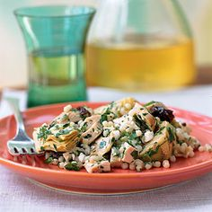 Couscous with Artichokes, Feta, and Sun-Dried Tomatoes