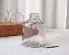 Vintage Ink Bottle Clear Glass Ink Bottle Sanford by CynthiasAttic