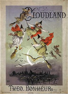 CLOUDLAND., A WITCHES' WALTZ FROM THE SPELLMAN COL. OF VICTORIAN MUSIC COVERS