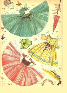 Kathleen Taylor's Dakota Dreams: Thursday Tab- Merrill Umbrella Girls * 1500 free paper dolls at Arielle Gabriel's The International Paper Doll Society free paper dolls for Pinterest pals #