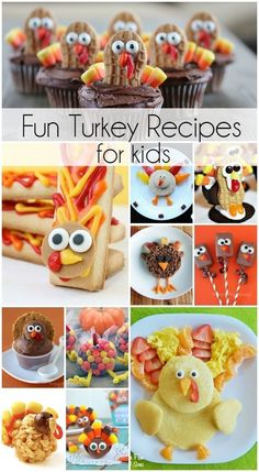 FUN Turkey Recipes for Thanksgiving! Kid friendly ideas that will make the holidays even more memorable! FUN Turkey Recipes for Thanksgiving! Kid friendly ideas that will make the holidays even more memorable! Diy Thanksgiving Crafts, Thanksgiving Snacks, Thanksgiving Recipes For Kids To Make, Thanksgiving Preschool, Thanksgiving Traditions, Thanksgiving Turkey, Halloween Crafts, Turkey Recipe For Kids, Turkey Recipes