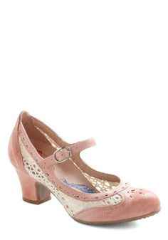 Light pink cross bow strap kitten heels - Mid heel shoes - Shoes