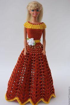 Одежда для кукол ручной работы. Ярмарка Мастеров - ручная работа. Купить Просто красивое платье. Handmade. Рыжий, платье для Барби