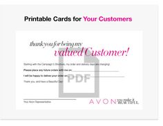 Printable Downloadable Card for Customers
