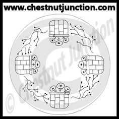 Flower Baskets Line Art – Chestnut Junction
