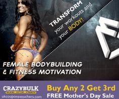 #CrazyBulkforWomen – Buy Any 2 #CrazyBulk Supplements and Get 3rd FREE #MothersDaySale  http://www.ukcouponsvouchers.com/coupons/crazy-bulk-women/