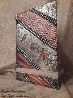 Buchcover für Hochzeitsbuch in Aluminiumdesign Decorative Boxes, Design, Home Decor, Handarbeit, Creative, Homemade Home Decor, Design Comics, Decoration Home, Decorative Storage Boxes