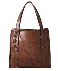 Fossil Handbag, Work North South Tote - Handbags & Accessories - Macy's