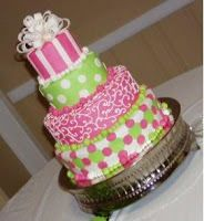 Party Frosting: Pink and green