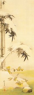 十二ヶ月花鳥図 十二月,酒井抱一,19th century,Japan
