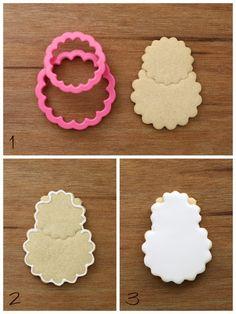 easy sheep cookie tutorial by Klickitat Street