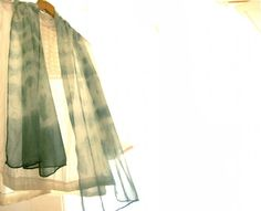 Shibori indigo silk scarf organic indigo hand dyed by dyeing2meetU