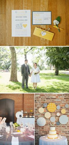 Eclectic Gray and Yellow Spring Museum Wedding in Maryland