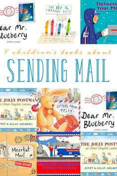 7 children's books about sending mail and letter writing to inspire your child to write and send letters! Read stories and facts about the mail process. Perfect for your next letter-writing activity! Best Children Books, Toddler Books, Children Reading, Letters For Kids, Letter Writing For Kids, Community Helpers Preschool, Teaching Letters, Teaching Themes, Friendly Letter