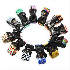 Color printing weighing combination lock suitcase belt
