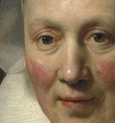 Portrait of a Woman - Rembrandt #Art #Detail