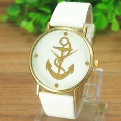 **Sold Out** White Strap Anchor Face Watch  $35