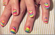Striped nail polish