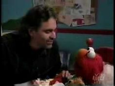 """Andrea Bocelli & Elmo  sing Time To Say Goodnight""  this is too cute"