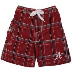 Alabama Crimson Tide Preschool Bat Boy Boardshort - Crimson