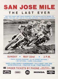 The Last Ever, San Jose Mile Motorcycle Races Ad Fine Art Print