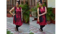 Indian Ethnic Office wear Lookbook A line Kurti