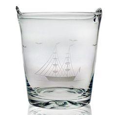 Susquehanna Glass Clipper Ship 8-inch Ice Bucket nice gift too