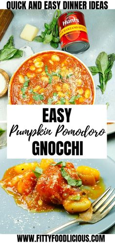AD Need a quick and easy weeknight recipe? In partnership with Hun'ts and Walmart Ive got you covered with my Easy Pumpkin Pomodoro Gnocchi that takes less than to make and is made with fresh and healthy ingredients. Pumpkin Recipes, Fall Recipes, Dinner Recipes, Dinner Ideas, Vegetarian Recipes, Cooking Recipes, Healthy Recipes, Vegetarian Italian, Delicious Recipes