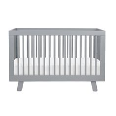 Hudson 3-in-1 Convertible Crib – we love the clean lines of this modern crib in a fab gray shade!