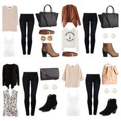 Work Wardrobe, Capsule Wardrobe, Fashion Pics, Cruise, Collage, Polyvore, Closet, Travel, Outfits