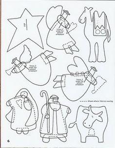 Nativity set - 3 templates ♥ Feltro-Aholic ♥ Moldes e pap em feltro e feltro estampado!: Molde de Presépio para o Natal